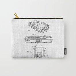 Gameboy Patent Drawing Carry-All Pouch