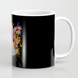 Hamster Face Color Splashes Coffee Mug