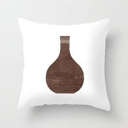 Minimal Abstract Greek Vase 5 - Hydria - Terracotta Series - Modern, Contemporary Print - Brown Throw Pillow