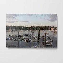 A Marina in Maine Metal Print