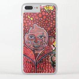 Cranberry Head Clear iPhone Case