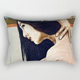 Cradle to the tomb Rectangular Pillow
