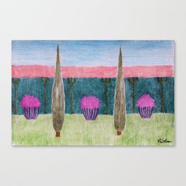 Pink Congea Fence Canvas Print