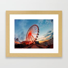 Sunset in Maryland Framed Art Print