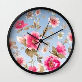 flower watercolor 6 Wall Clock