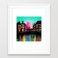 amsterdam Framed Art Prints featuring AMSTERDAM by mark ashkenazi