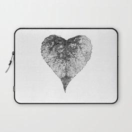 heart b&w Laptop Sleeve