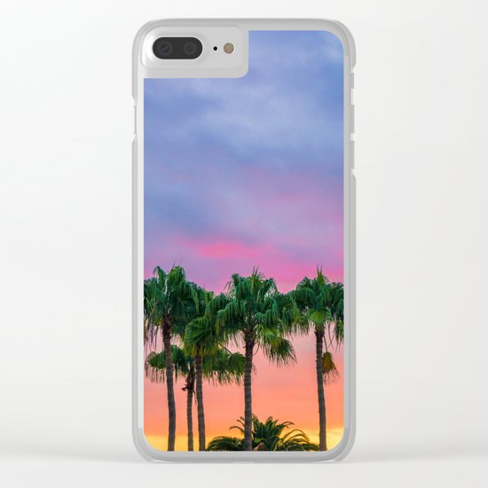 Sunset tropical vibes Clear iPhone Case