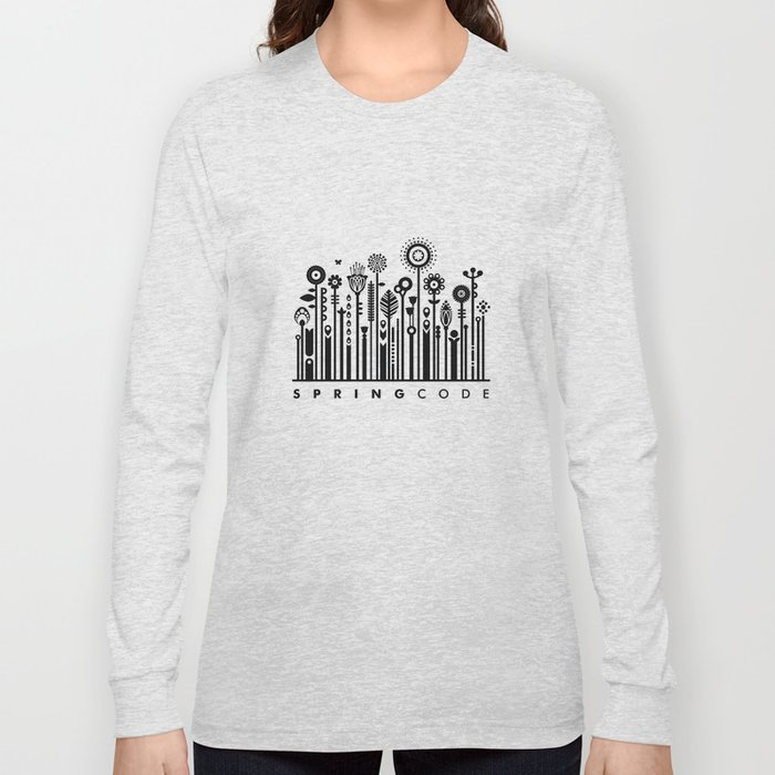 spring barcode Long Sleeve T-shirt