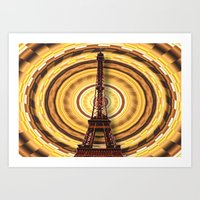 eiffel tower Art Prints featuring Eiffel Tower by Elena Indolfi