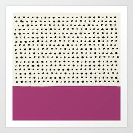 Raspberry x Dots Art Print