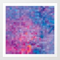 pixel Art Prints featuring Pixel by Marta Olga Klara