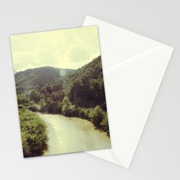 Between Mountains  Stationery Cards