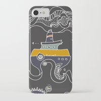 boat iPhone & iPod Cases featuring Boat by inktheboot