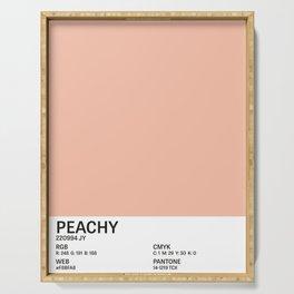 Peachy - Colour Card Serving Tray