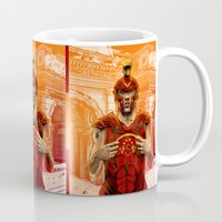 gladiator Mugs featuring German Gladiator Podolski by Akyanyme