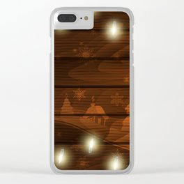 Christmas background Clear iPhone Case