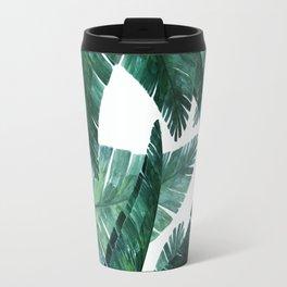 Blue-green banana leaves. Travel Mug
