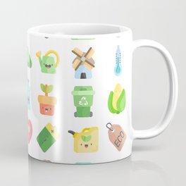 CUTE GREEN / ECO / RECYCLE PATTERN Coffee Mug