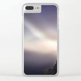 Otter Cliffs at Night Clear iPhone Case