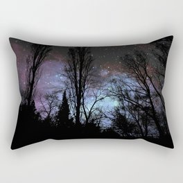 Black Trees Dark Space Rectangular Pillow