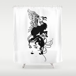 Gothic grotesque Shower Curtain