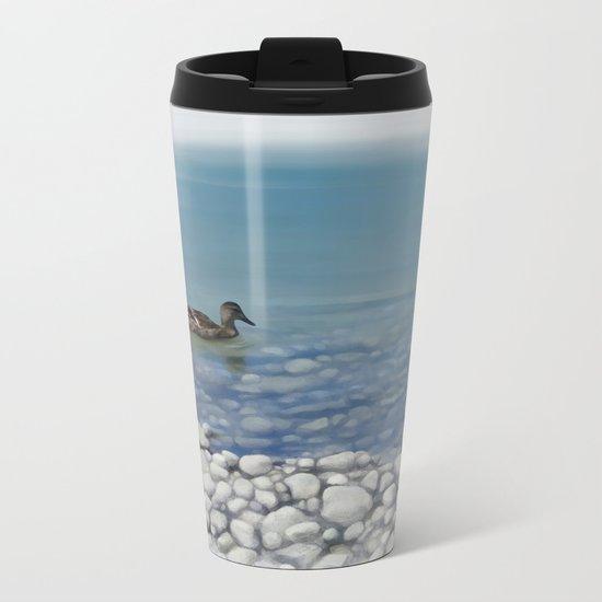Clear water Metal Travel Mug