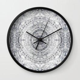 Black&white Mandala - & Grey Blue Wall Clock
