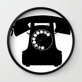 Traditional Telephone Icon Wall Clock