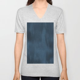 Blue Abstract Fusion Watercolor Blend Pairs To 2020 Color of the Year Chinese Porcelain PPG1160-6 Unisex V-Neck