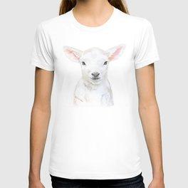 Lamb Face Watercolor T-shirt