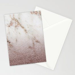 Burgundy glow - marble glitter gradient Stationery Cards