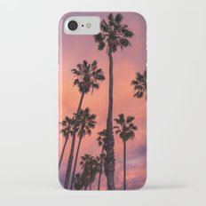 STORMY PINK CALIFORNIAN SUNSET PALMS Slim Case iPhone 7