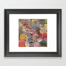 Clown fish and Sea anemones Framed Art Print