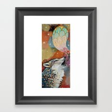 wolf song Framed Art Print