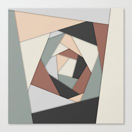 Earth Tones Layers Canvas Print