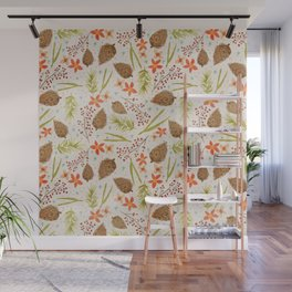 Quiet Walk In The Forest - A Soft And Lovely Pattern Wall Mural