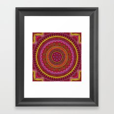 Hippie mandala 37 Framed Art Print
