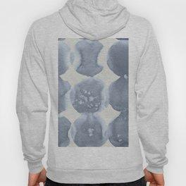 Shibori Wabi Sabi Indigo Blue on Lunar Gray Hoody