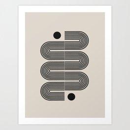 Geometric Mid Century Art Art Print