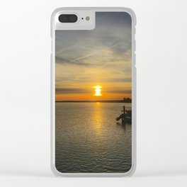 Sunset Over Bay Clear iPhone Case