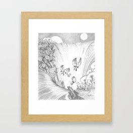 Butterfly Falls Framed Art Print