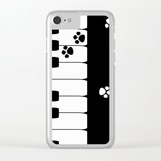 The keys of the piano . Creative black and white pattern . Clear iPhone Case