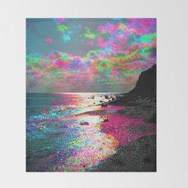 Trippy Serenity Ocean Throw Blanket