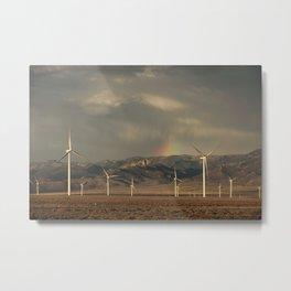 Wind Farm in Nevada Metal Print