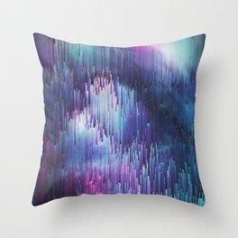 Glitch Galaxy Throw Pillow