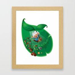 burno in spring Framed Art Print
