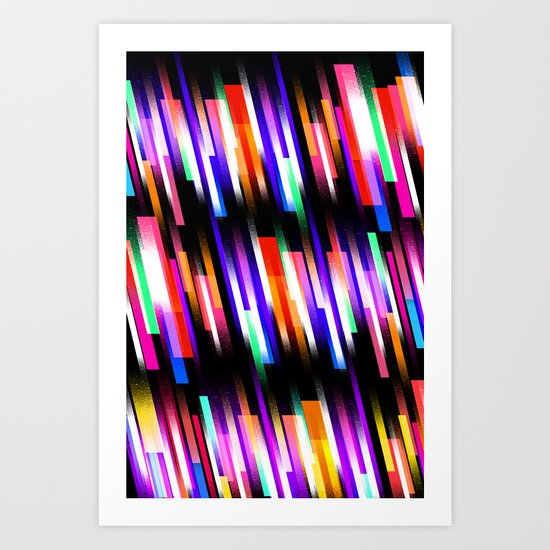 Distorted Skyline Art Print