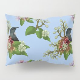 Tui in Pohutukawa Flowers Pillow Sham