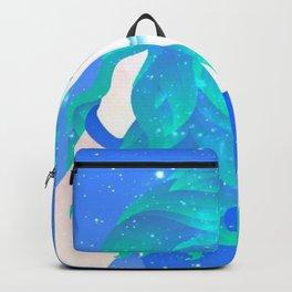 She Sparkles in Teal Backpack